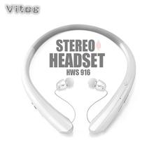 سماعات لاسلكية الرياضة ستيريو بلوتوث شريط حول الرقبة سماعة أذن لتشغيل سماعة مع ميكروفون سماعات أذن باص سماعات