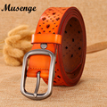 MUSENGE Belts For Women Belt Leather Ceinture Femme Cinturones Mujer Cintos Para As Mulheres Riem Woman Designer 2016 Kemer Punk