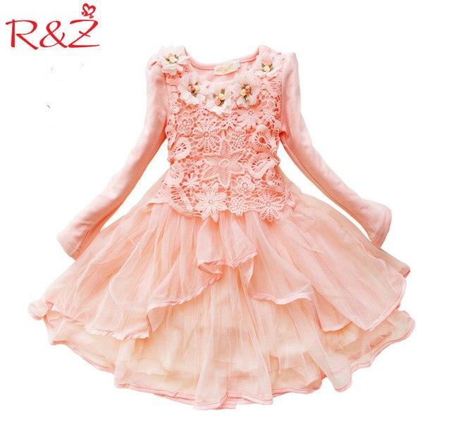 2017 Flower Girl Dress Princess tutu party gift wedding veil flower girl dress children dress pink green macarons candy colors