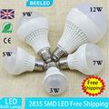 10pcs lot E27 Led Light Bulb 3W 5W 7W 9W 12W LED Bulb Lamp 220v Cold white Warm White Led Spotlight free shipping Wholesale