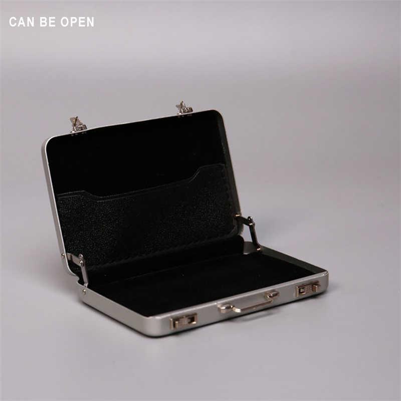 Горячая фигурка игрушки хобби 1/6 весы сцена Серебро Алюминий портативный чемодан изысканная коробка можно открыть подходит 12 дюймов куклы игрушки