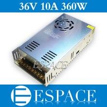 10 cái/lốc 36 V 10A 360 W Chuyển Mạch Cung Cấp Điện Điều Khiển cho máy ảnh CCTV LED Strip AC 100 240 V Đầu Vào đến Đầu DC 36 V miễn phí fedex