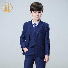 Nimble/синие костюмы для мальчиков на свадьбу, детский Блейзер, костюм для мальчиков, костюм enfant garcon, для свадьбы, для бега, garcon, блейзер, смокинг для мальчиков