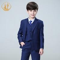 Nimble/синие костюмы для мальчиков на свадьбу, детский Блейзер, костюм для мальчиков, enfant garcon mariage, блейзер для бега, смокинг для мальчиков