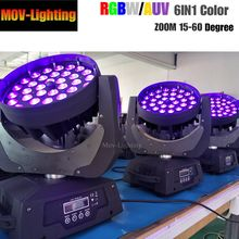 2 Unit/Banyak 36 Pcs 18 W RGBW 36*18 W LED Mini Moving Head Beam Mencuci Tahap lampu untuk Dj Klub Disko(China)