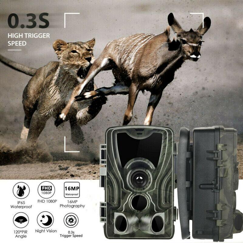 HC801A caméra de chasse caméra de suivi IP65Photo pièges 940nm 1080P 16MP 0.3s obturateur