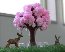 Magic Paper Artificial Sakura Growing Tree Magical Grow Desktop Cherry Blossom Trees Kids Christmas Science Toys For Children