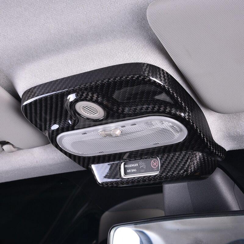 Autocollant de Modification de fibre de carbone de couverture décorative de boîte de Console de toit de voiture pour le nouveau Smart 453 fortwo forfour accessoires de style de voiture