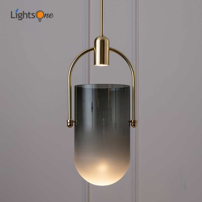 Nordic Simple Single Head Pendant Light Glass Cover Restaurant Bar Cafe Coffee Shop Personality Creative Bedside Pendant Lamp