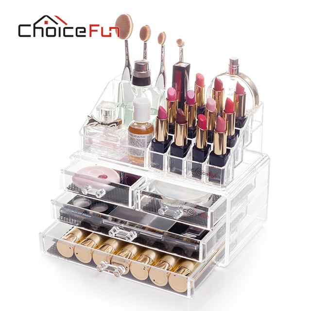 CHOICEFUN Bathroom Makeup Organizer Storage Box Acrylic Make Up Cosmetic  Drawers Lipstick Brush Trendy SF  Part 96