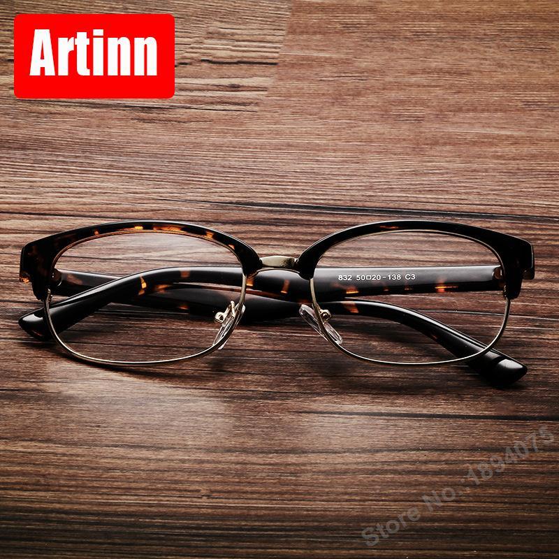 77c93706cf Aliexpress.com   Buy fancy glasses frame design metal personality semi  frame retro glasses men and women universal optics reading glasses 9832F  from ...