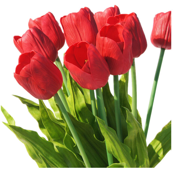 christmas flower holland pu red tulip decorative artificial flower