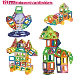 Image 1 - 121PCS Mini Magnetic Building Blocks Magnetic Constructor Designer Set Model & Building Magnetic Blocks Educational Toy For kids