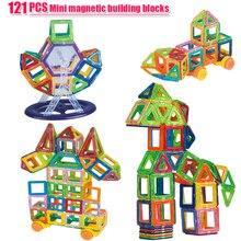 121PCS Mini Magnetische Bausteine Magnetische Konstruktor Designer Set Modell & Aufbau Magnet Blöcke Pädagogisches Spielzeug Für kinder