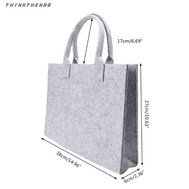 Thinkthendo unisex feminino portátil sentiu moda bolsa tote casual grande capacidade de armazenamento organizador bolsa de ombro novo 6
