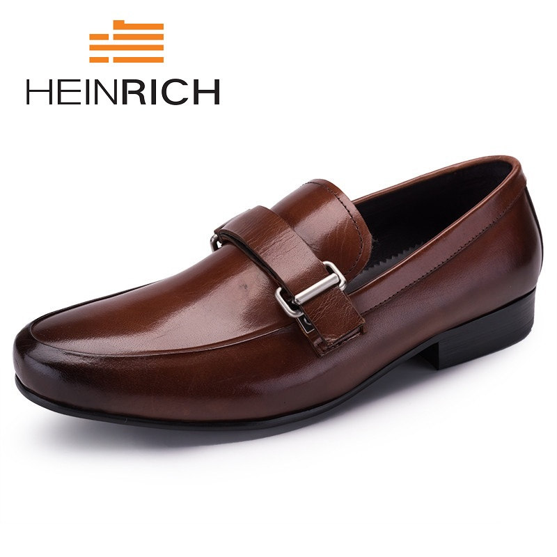 HEINRICH 2018 Vintage Genuine Leather Men Business Shoes Black Patent Leather Shoes Mens High Quality Mens Classic ShoesHEINRICH 2018 Vintage Genuine Leather Men Business Shoes Black Patent Leather Shoes Mens High Quality Mens Classic Shoes