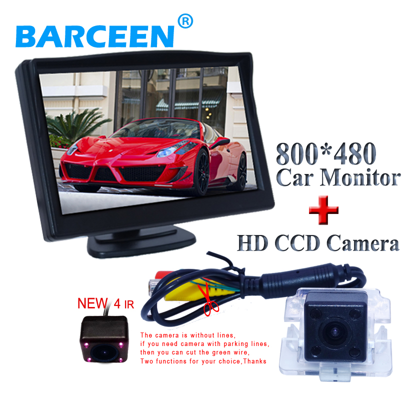 Factory selling colorful night vision camera bring ir light + 5 car parking monitor for Mitsubishi Outlander