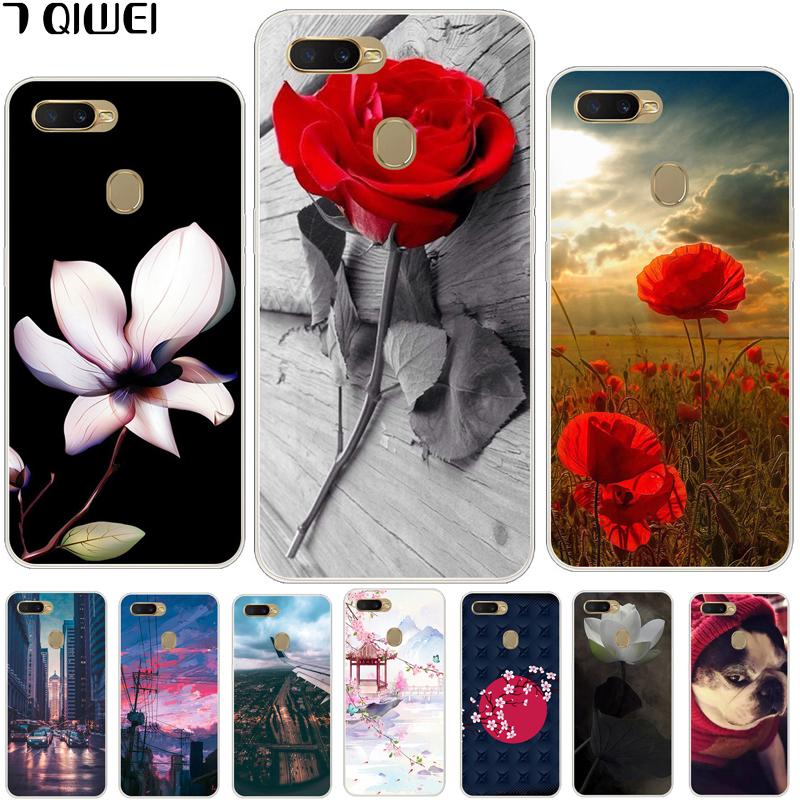 6.2\'\' For OPPO A7 Case OPPOA7 Silicone Soft Painting Phone Case For Funda OPPO A7 A 7 CPH1901 Case TPU Cartoon Protective Cover