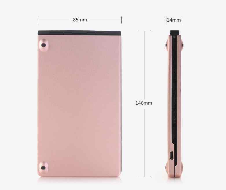 KB228 Saku Lipat Mini Keyboard Bluetooth Logam Wireless keypad ponsel untuk iphone tablet ipad xiaomi huawei smartphone