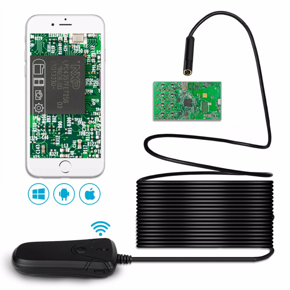 Wireless Inspection Camera Lerbyee Wifi Wireless Endoscope Hd 1080p Inspection Camera Waterproof Semi Rigid Borescope Video Inspection For Iphone Android