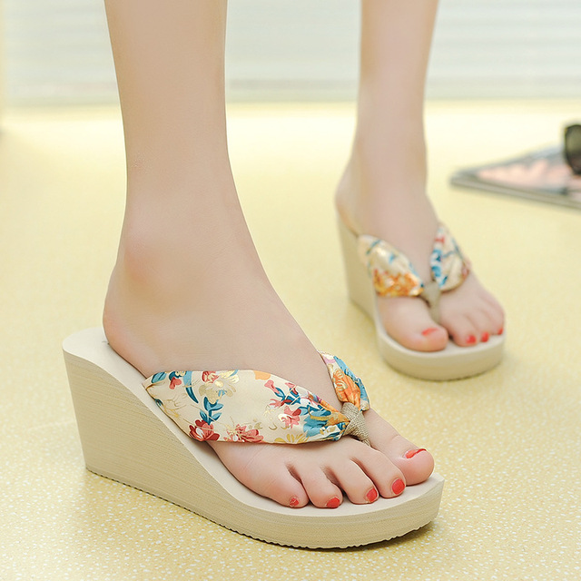 48251629451f8e Fashion Casual Style Women Bohemian Flip Flops 2018 New Female Shoes  Leisure Ladies Summer Beach Sandals Platform Shoes CLD944