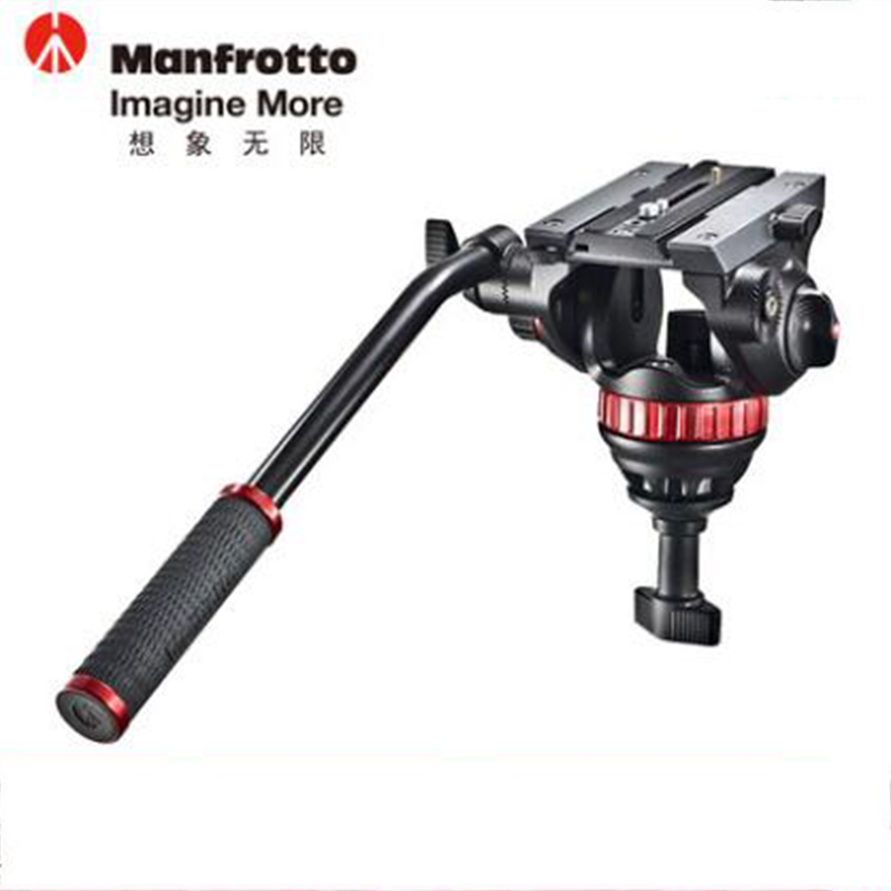 Manfrotto MVH502A Fluid Video Head Aluminum Stable Tripod Head Professional Head With Quick Release Plate For Digital Video SLR miliboo 65mm bowl size professional fluid head for monopod tripod quick release plates myt801 360 dgrees aluminum video dslr