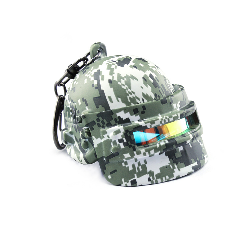 Game Playerunknown's Battlegrounds Cosplay Costumes Special Forces  camouflage Helmet Armor Model Key Chain Keychain PUBG