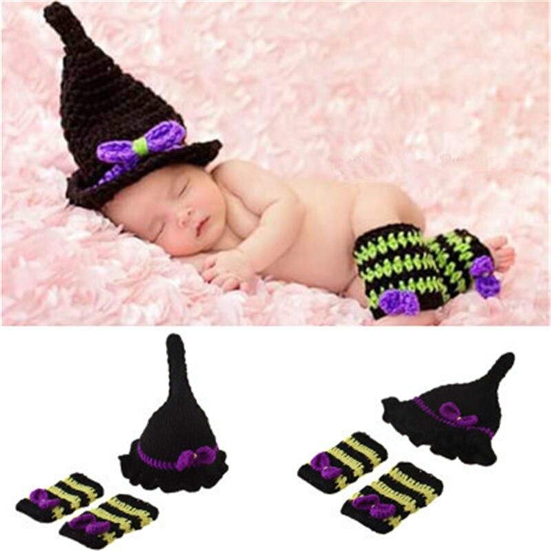 Handmade Knot Beanie Toddler Baby Crochet Photography Props 0-6M Newborn Baby Crochet Photo Props Knit Costume Newborn Crochet