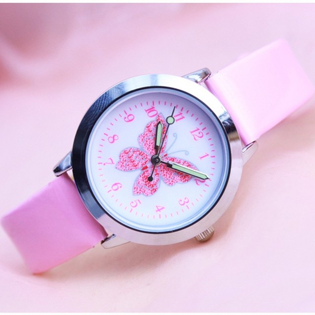 Fashion 3D Colorful butterfly Watches Children Kids girls gift Watch Casual Quartz Wristwatch Relogio Relojes kol saati