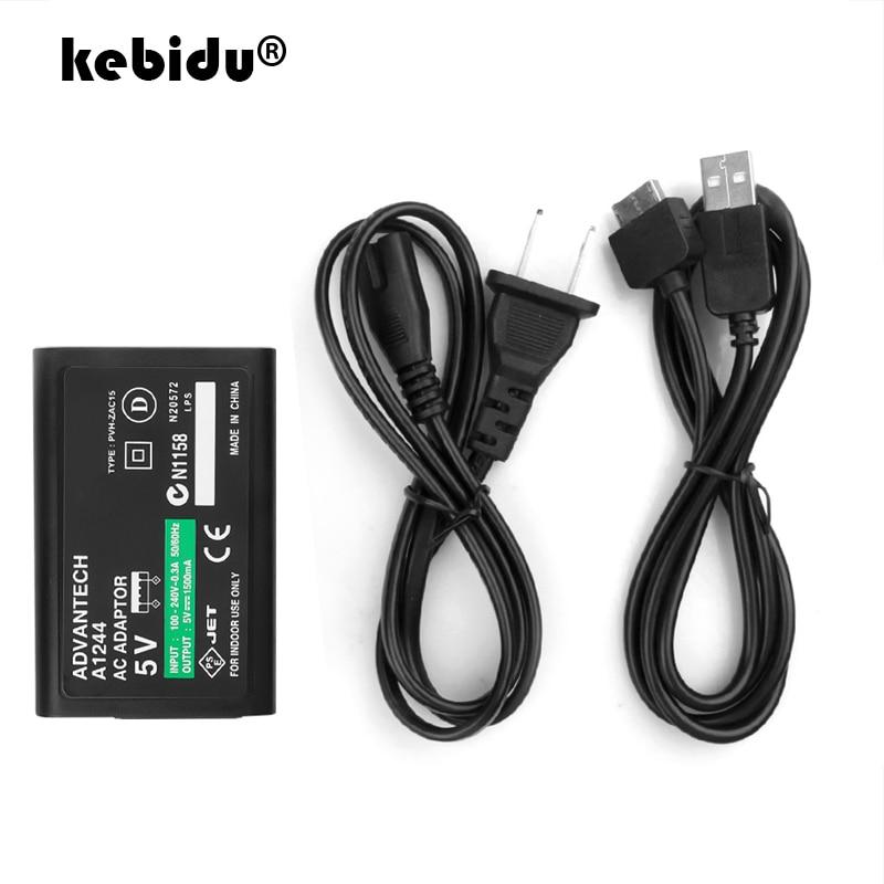 Зарядный USB-кабель kebidu для Sony PlayStation Psv ita PS Vita PSV, домашнее настенное зарядное устройство, источник питания, адаптер переменного тока, вилка ст...