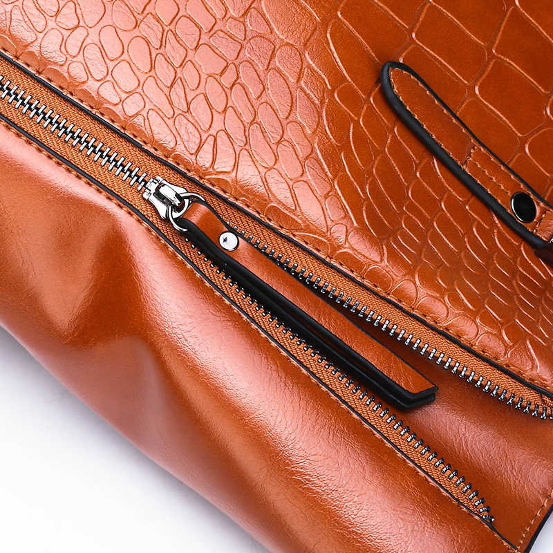fda22029064 Luxury Crocodile Bags Handbags Women Famous Brand Designer Female Big  Shoulder Bags For Women 2018 Double Zipper Bolsa Feminina