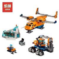 Lepin 02112 New City Series the Arctic Supply Plane Set 60196 Building Blocks Bricks Legoinglys Toys Model Boy Christmas Gifts