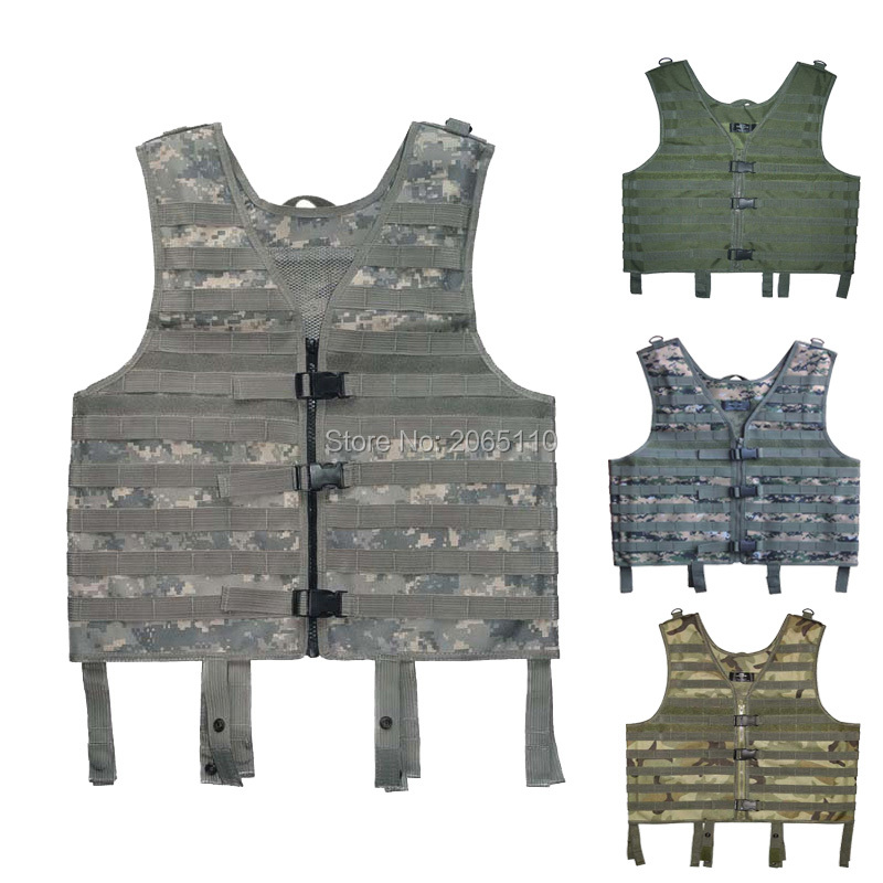 Military Army Tactical Paintball Molle Carrier Airsoft Assault Combat Vest with pouch Black