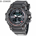 D-ZINER Fashion Watch Men Waterproof LED Sports Military Watch Shock Resistant Men's Quartz Digital Watch relogio masculino 8143
