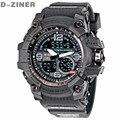 D-ZINER Moda Hombres Reloj LED Resistente Al Agua Deporte Reloj Resistente A los Golpes Militares de Los Hombres Del Reloj Digital de Cuarzo del relogio masculino 8143