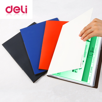 Deli 1pcs Creative Multi-Functional Information Booklet A4 20-page rope-button multi-layer Test paper clip Music score folder