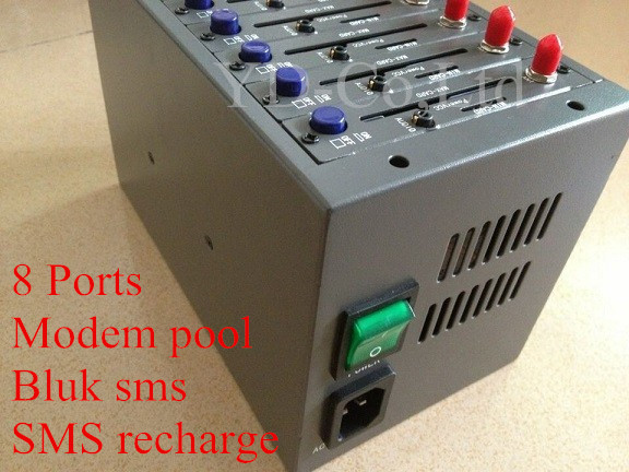 Low rate SMS Gatewey GSM 8 Ports Modem pool with Multi Sim Cards USB Interface 900