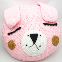 NEW Cute Round Rabbit Pillows 100% Cotton Kintted 3 Colors Children Cartoon CushionsKids Gifts Modern Home Decorative Props 1pcs