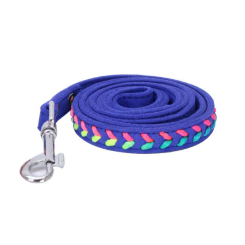 Braided Pet Collar PU Leather Puppy Pet Dog Collars Size S M Pink Red Supplies Products Basic Collars