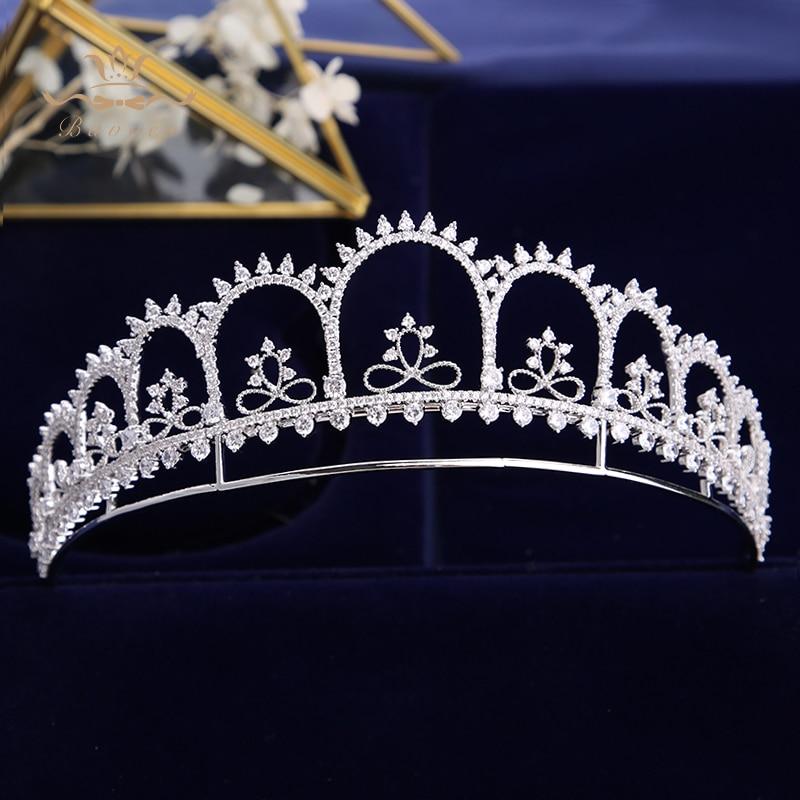 Gorgeous Crown Tiara de Noiva Princess Wedding Hair Accessories Women Hair Jewelry Zircon Bridal Crown and Tiaras