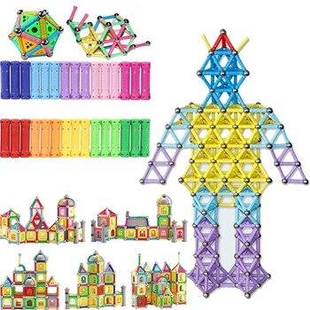 Barras de juguete con imán DIY, bloques de construcción magnéticos, juguetes de construcción para niños, juguetes educativos de diseño para niños, bolas de Metal