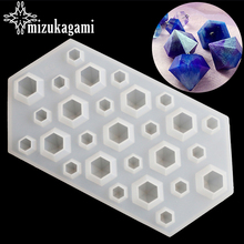1pcs UV Resin Transparent Diamond Silicone Mould Jewelry Making Mold Sugarcraft DIY Resin Molds For Jewelry