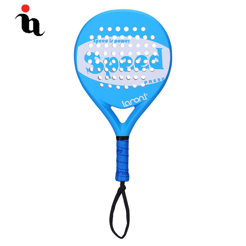 IANONI PaddleBall Racket Men Hot New Padel Raqueta Speed Letter Printing Full Carbon Fiber EVA Professional