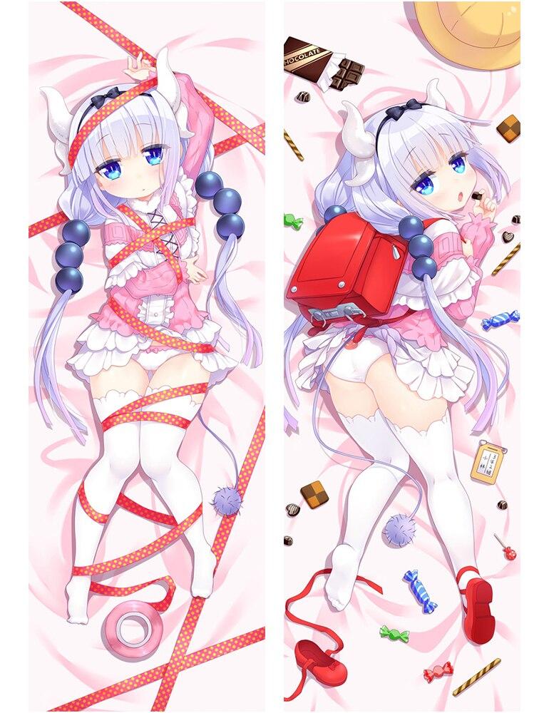 Japanese Anime Kobayashi-san Chi no Maid Dragon Cute Kanna Kamui Hugging Body Pillow Cover Case 17012
