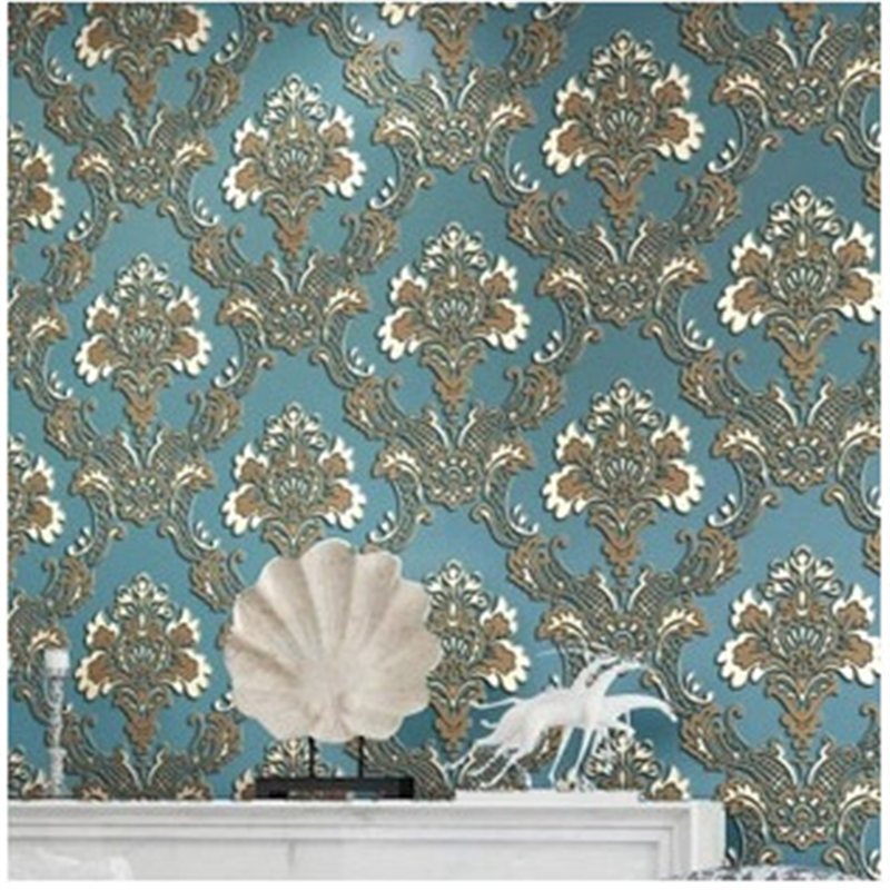 beibehang European Luxury Fashion Damascus 3D Wallpaper Non-woven Stereo Wallpapers Mural Wall Decals Papel de Parede 4 Colo beibehang papel mural arrival romantic warm dandelion wedding decor 3d wallpaper non woven wallpapers mural floral wall pape