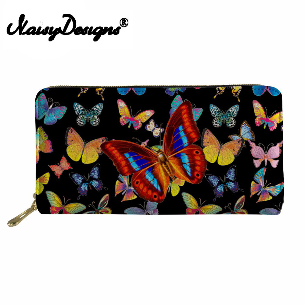 Noisydesigns Coin Purses Holders 3D Butterfly Print Purses& Wallets Girls Ladies Pu Leather Rfid Wallet Money Bag Wallet Female