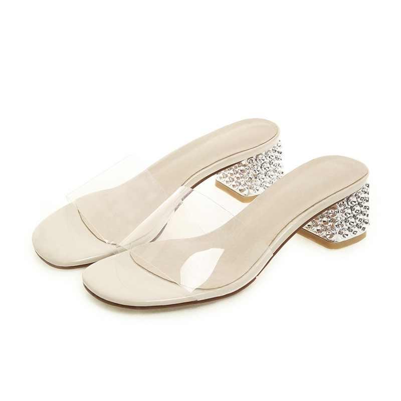 ASUMER kích thước lớn 32-43 Mới thời trang phụ nữ dép đi trong nhà bên ngoài giày mùa hè trượt trên phụ nữ chân mở giày drop shipping vận chuyển