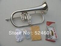 OVES 350S BB Monel Valves Senior Gift Silver Plated Flugelhorn B Flat Bb Professional Trumpet Top Musical Instruments in Brass