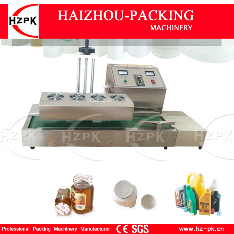 HZPK Desktop Stainless Steel Cover Automatic Electromagnetic Foil Sealing Machine Continuous Induction Sealer Machine 20-80mm hzpk desktop stainless steel cover automatic electromagnetic foil sealing machine continuous induction sealer machine 20 80mm