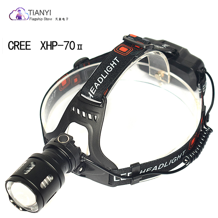 CREE XPH70 LED Headlamp Rechargeable Head Flashlight 3 Modes Zoom Waterproof LED Headlight USB charging powerful Led headlamp|Headlamps| |  -